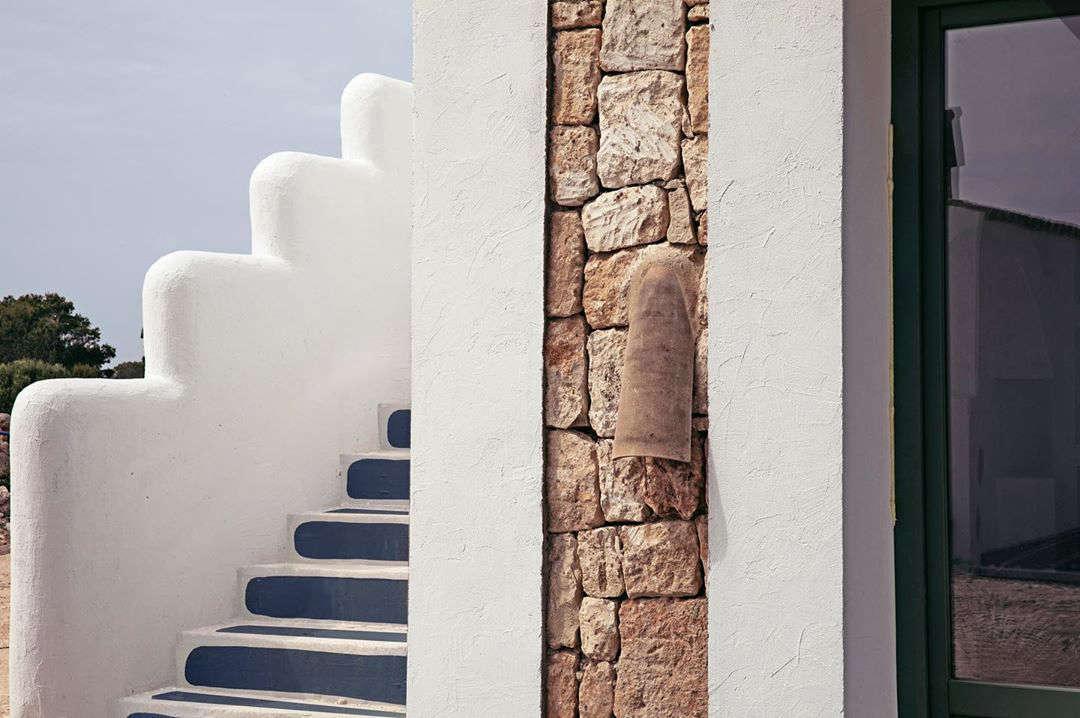 The villas were rebuilt from historic farm structures: &#8