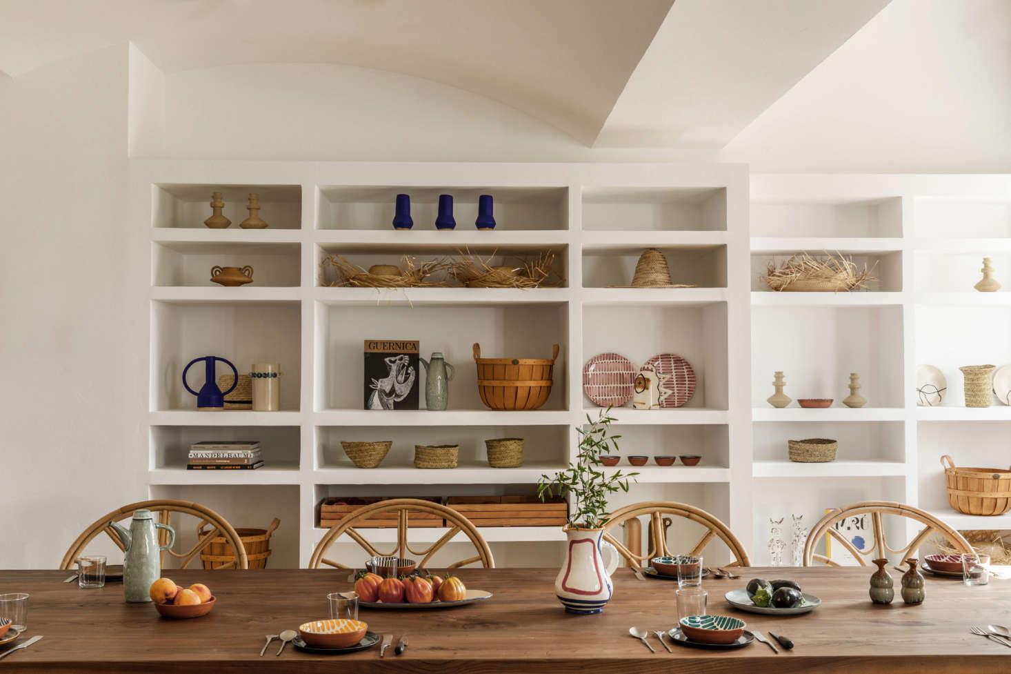Menorca Experimental dining room, designed by Dorothee Meilichzon, Menorca, Spain. Karel Balas photo.