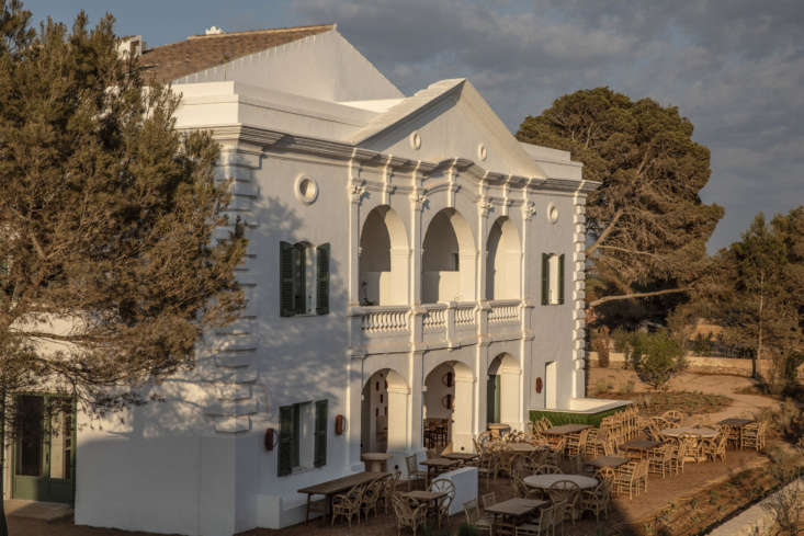 Built for a military captain at the turn of the th century, the main structure sits amid groves of pine and juniper on nearly 75 acres overlooking the Mediterranean (the beach is a  minute walk down the hill). It&#8
