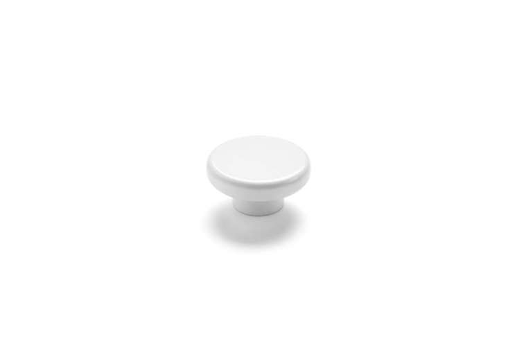 the menu norm knobs in matte white or black is \$63 at casson hardware. 13