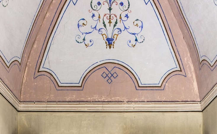 ceiling detail at palazzo daniele in puglia, italy 12