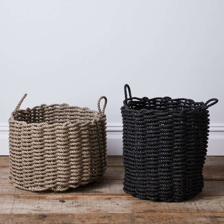 The Rope Co. was founded in  by a fifth-generation lobsterman. The rope used to make its products is mold- and mildew-resistant, making these indoor/outdoor baskets ideal for just about anything you throw its way, from a load of wet swimsuits to firewood. Two sizes of Nautical Rope Storage Bins—wide and tall—are available at Food5