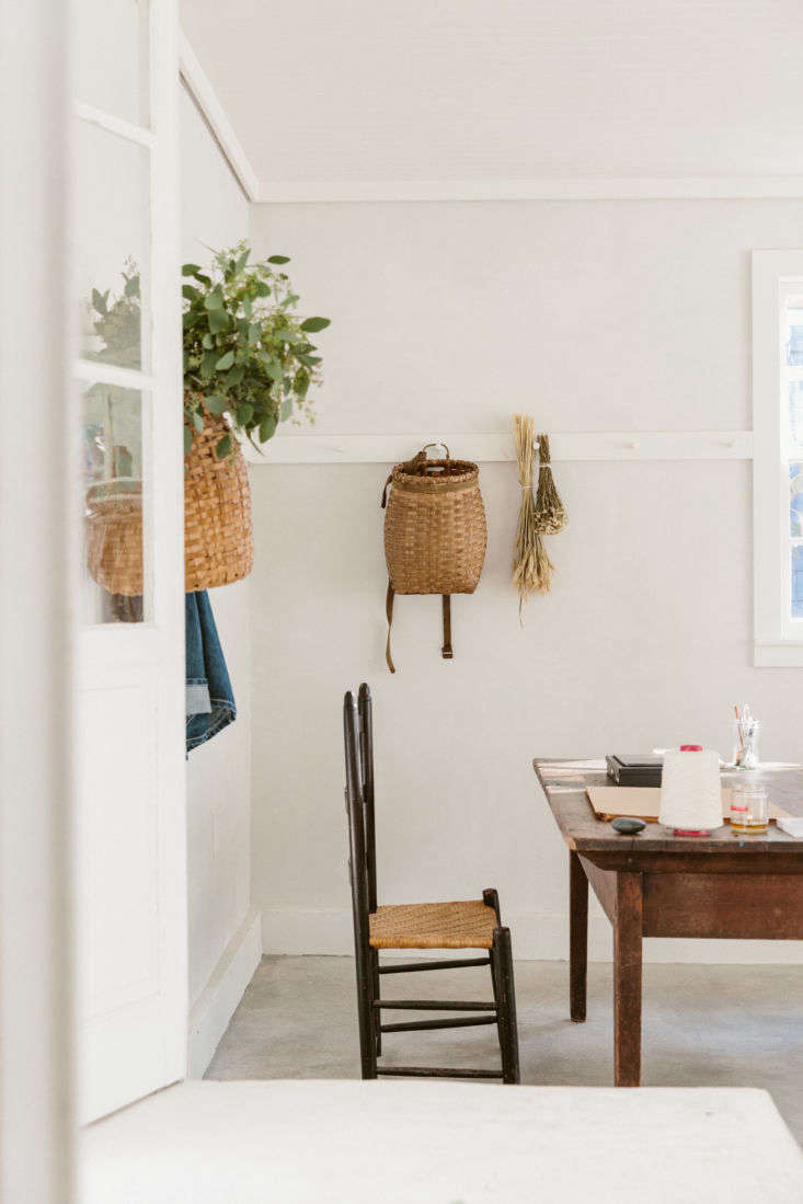 Rudy Jude 12 Simple Ideas to Steal from a Mainers Thoughtful Shop in LA O&#8\2\17;Rourke hangs Adirondack baskets from the peg rails. Beautiful on display, they&#8\2\17;re also ample bodied, for storage..