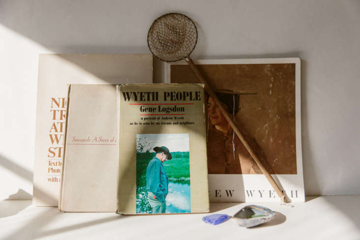 Rudy Jude 12 Simple Ideas to Steal from a Mainers Thoughtful Shop in LA O&#8\2\17;Rourke kept the bones of the space simple, and leaves the evocativeness to the tiniest details she places throughout the shop: vintage books on Wyeth, shown here; or, elsewhere, a miniature mirror (not pictured) and a children&#8\2\17;s chair. &#8\2\20;The small mirror I bought off of Etsy from a little shop in France,&#8\2\2\1; she says. &#8\2\20;I actually had no idea how tiny it was until it arrived, but it is just absolutely perfect in every way, even the little angle that it sits at.&#8\2\2\1;
