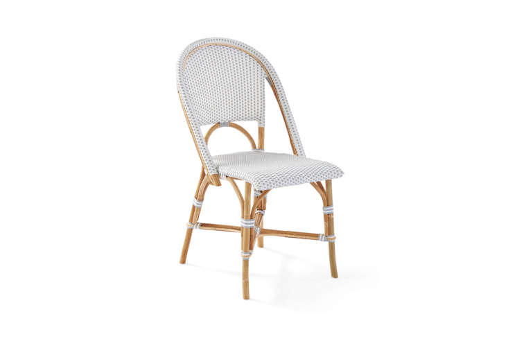 10 Easy Pieces French Bistro Chairs High to Low Serena & Lily offer a range of French inspired bistro furniture, including the Riviera Side Chair, made of rattan with woven plastic seats; \$\248 in several color combinations. The company also offers versions made of weather proof, powder coated aluminum and in children&#8\2\17;s sizes, too.