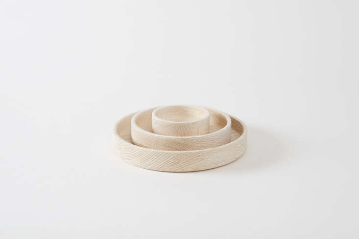 Bay Area artist Silvia Song makes the Bleached White Oak Platters that range from $0 to $350 at March.