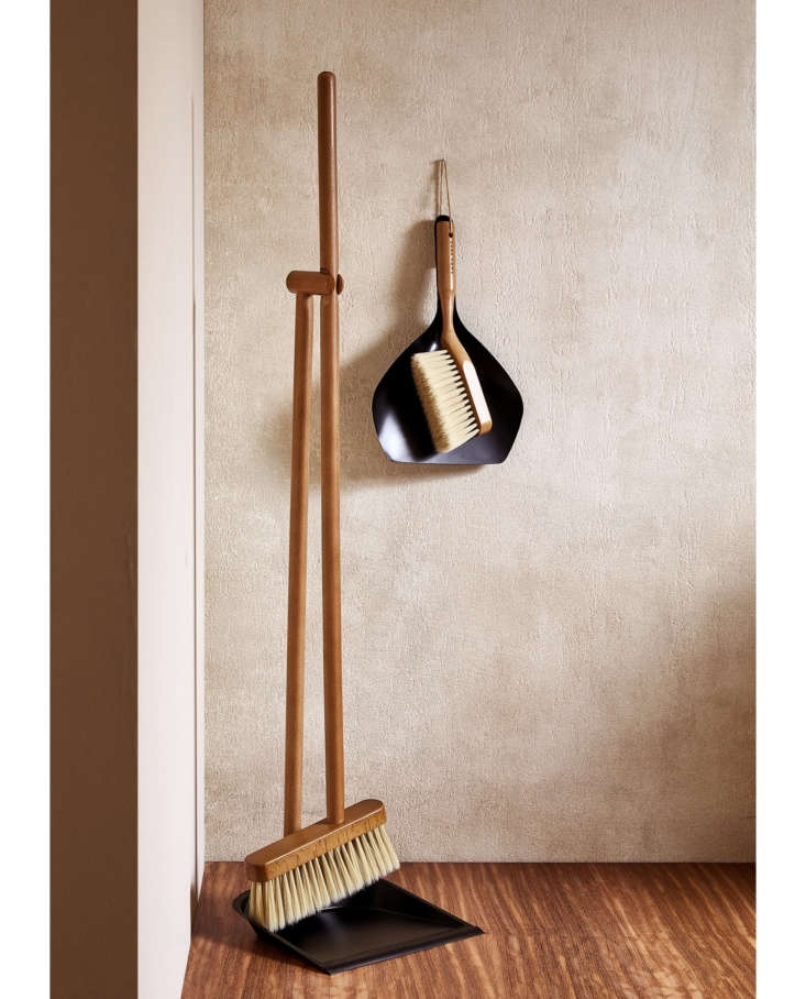 In the French Kitchen with Mimi Thorisson A New Collection from Zara Home The tidy standingWooden Dustpan and Brush Setis \$35.90; the smallerDustpan and Brush Set, hanging, is \$\25.90.