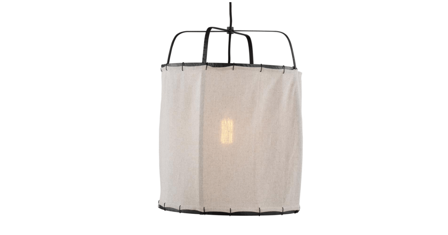 TheED Ellen DeGeneres Generation Lighting Dunne Aged Iron Pendant with Hand-Sewn Natural Linen Shade is $35src=