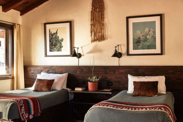 pendleton and serape blankets cover each bed. 15