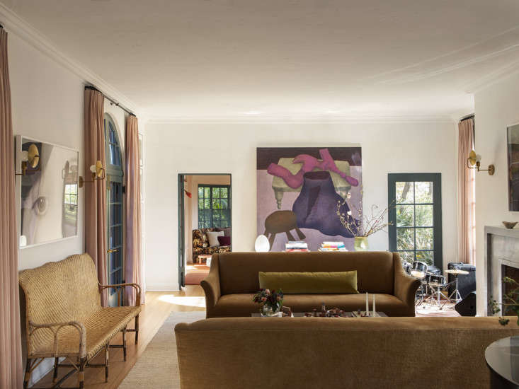 LA Autumnal A 1920s House Makeover Composed in Jewel Tones &#8\2\20;The proportions of the space make it immediately feel good to be in,&#8\2\2\1; says Merrill. The art—photographs by Barbara Probst and a Ginny Casey painting from the couple&#8\2\17;s collection—got added at the very end: &#8\2\20;they felt meant to be.&#8\2\2\1;