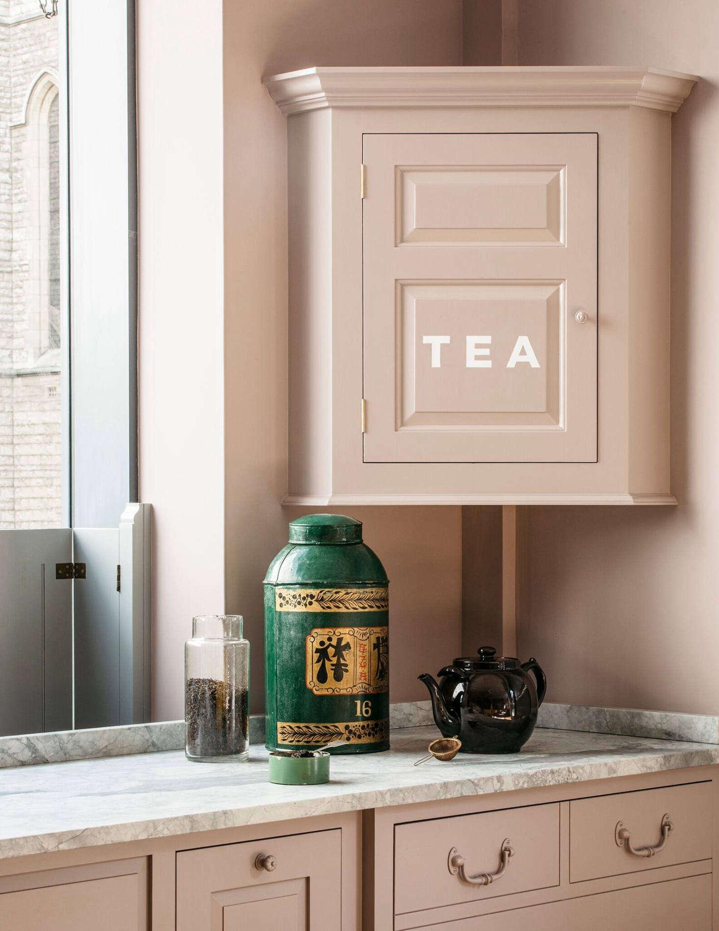 How British: a tea-making station.