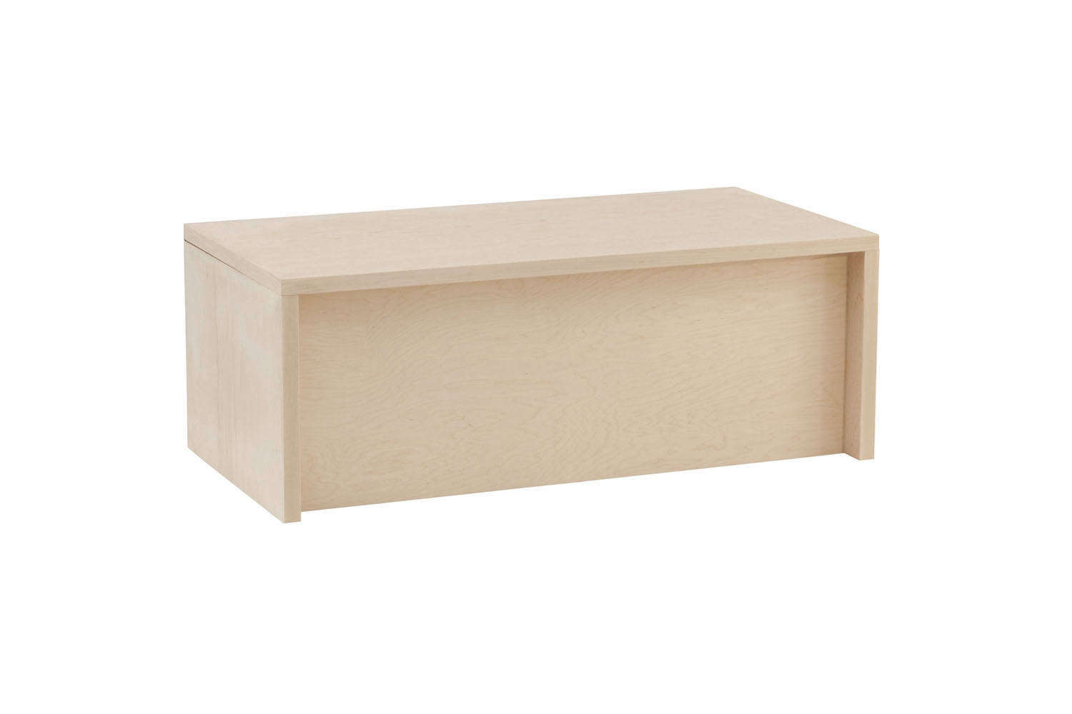 The Thompson Storage Chest comes in Maple, Cherry, Walnut, and Painted Eco MDF. It&#8