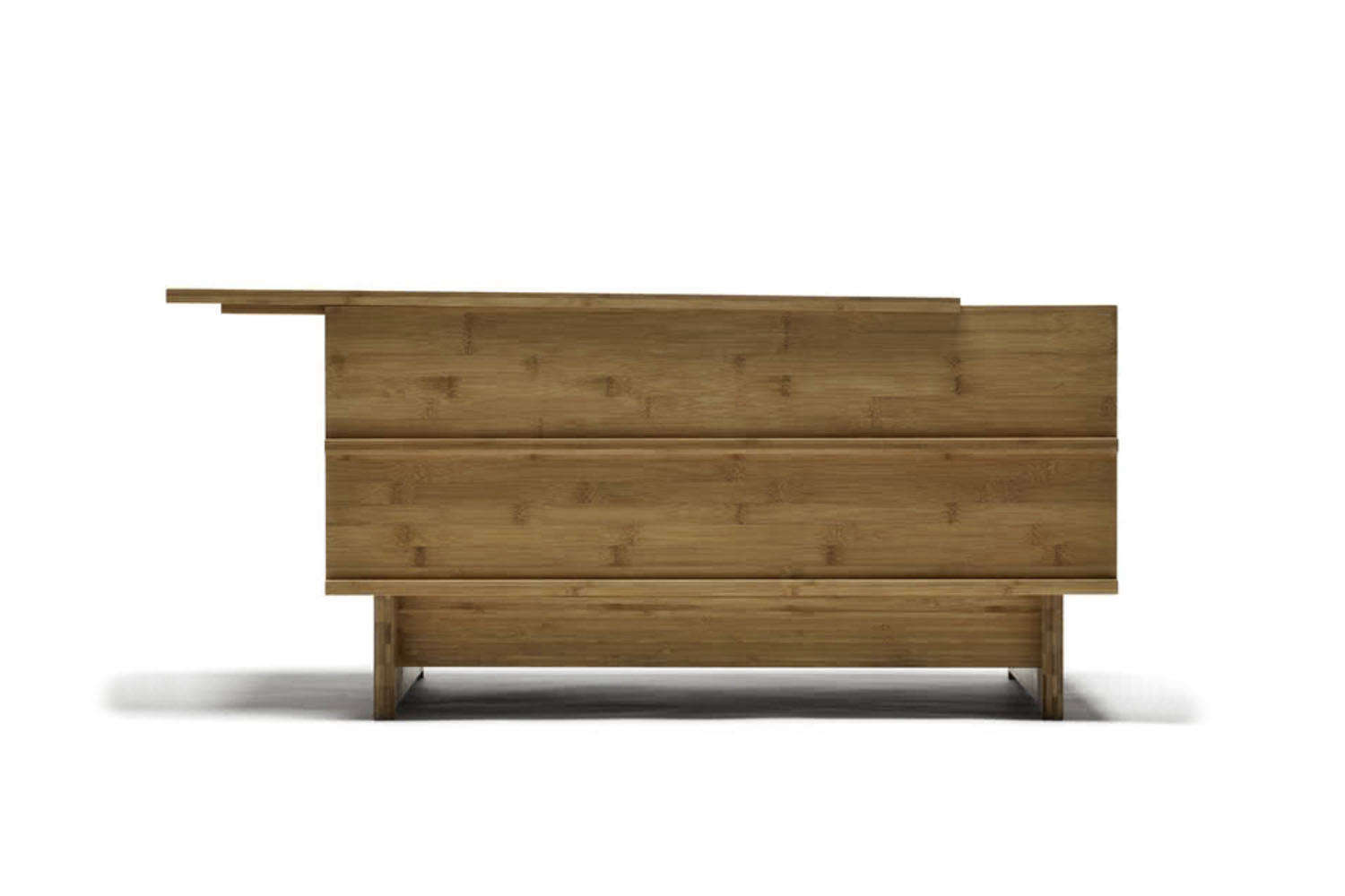 From We Do Wood, the Correlations Bench is designed to be used as a bench or as a side table. The removable top and the rest of the bench are made of bamboo; $56
