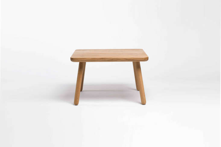 The petit-sized Coffee Table One Square comes in natural oak and black ash is £4loading=