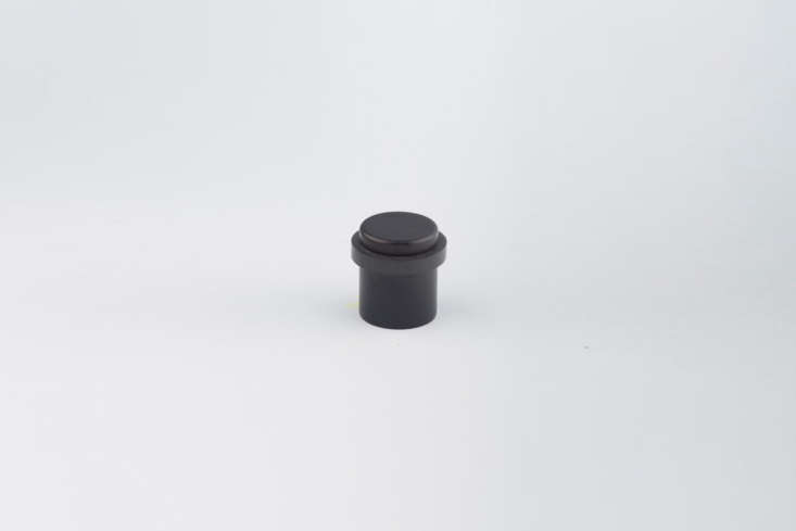 The CBH Charlie Door Stop is available in seven finishes including Flat Black (shown); $55 at Casson Hardware.
