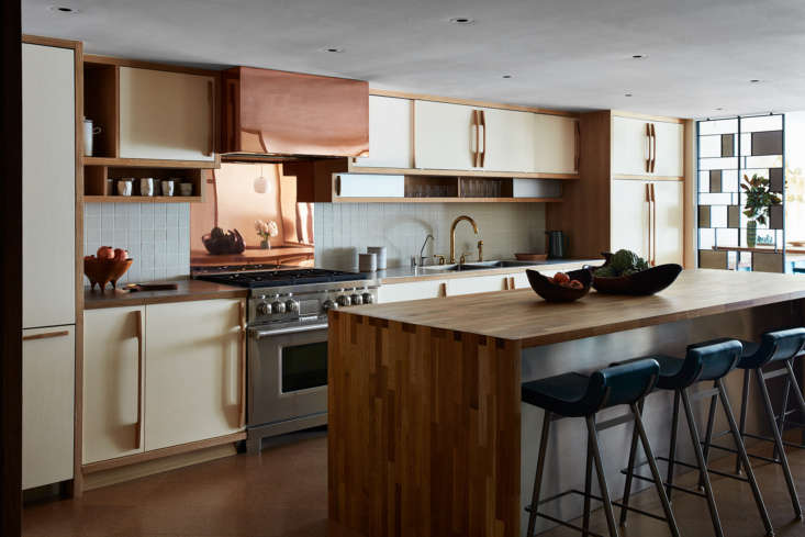 "The white oak cabinets are painted ""Blanc,&#8"