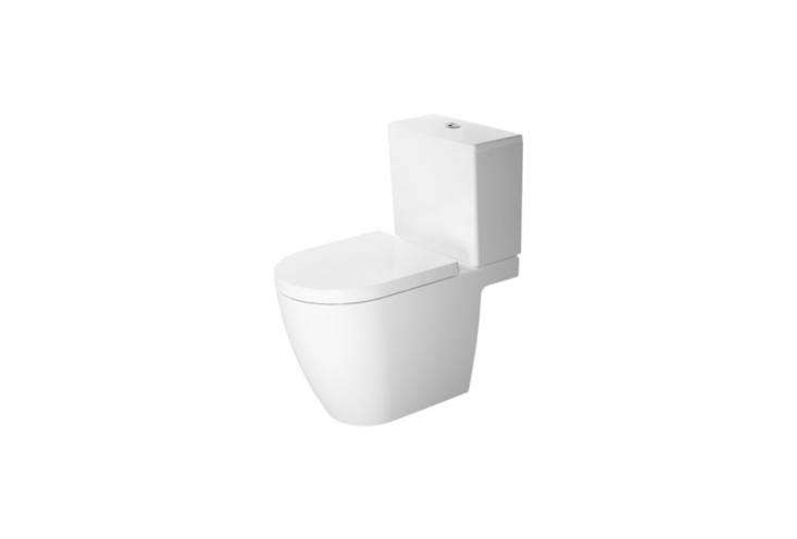 TheDuravit ME Close-Coupled Toiletwas designed by Philippe Starck; $loading=