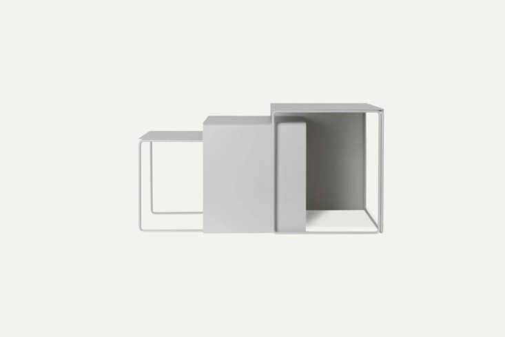 The Ferm Living Cluster Tables in Light Grey come in a set of 3 that can be arranged into a grouping or separated throughout the living room; €475.