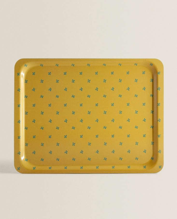 floral tray green zara home 15