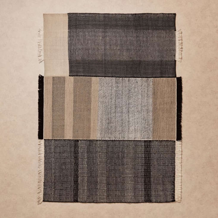 an understated rug with a punk spirit thanks to unconventional tasseling. nanim 13