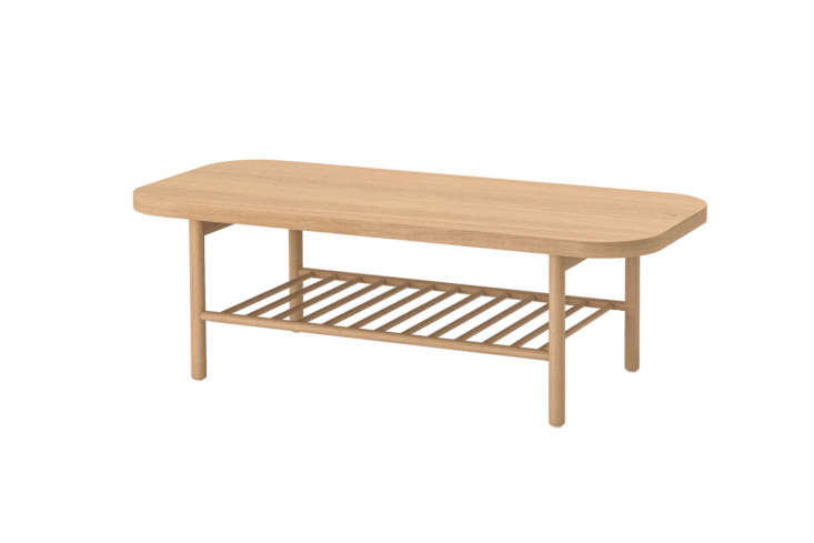 The IKEA Listerby Coffee Table in White Stained Oak is $9.