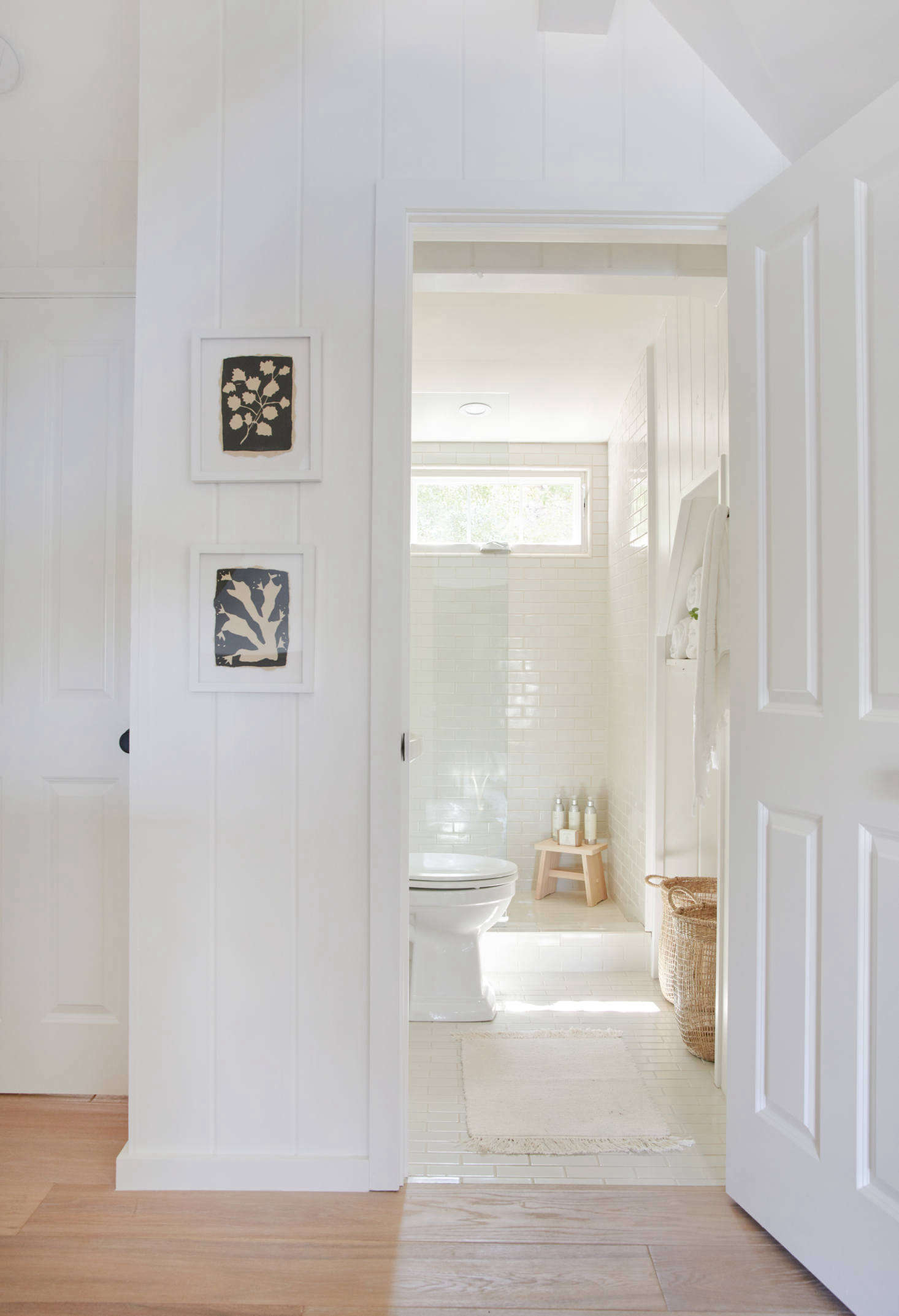 In this and many of the bathrooms, dingy tile was replaced with Heath Ceramics&#8