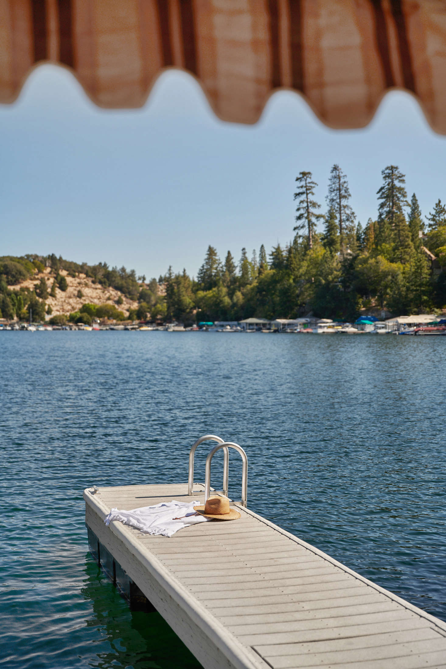 Last but not least, the lakeside dock, ready for lounging.