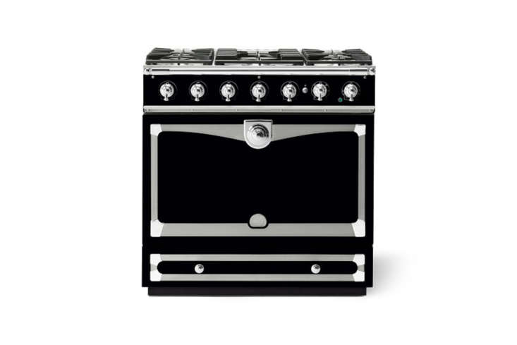 The La Cornue CornuFé 90 Albertine Range in Gloss Black; $8,475 at Williams-Sonoma.