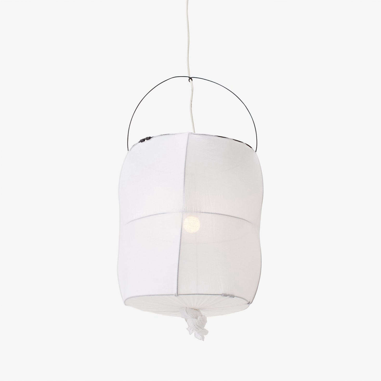 The cotton Koushi Lamp, handmade in Paris, is currently on sale for $396 at ABC Carpet & Home. (For a DIY version, see DIY: Koushi Lamp by Mark Eden Schooley.)