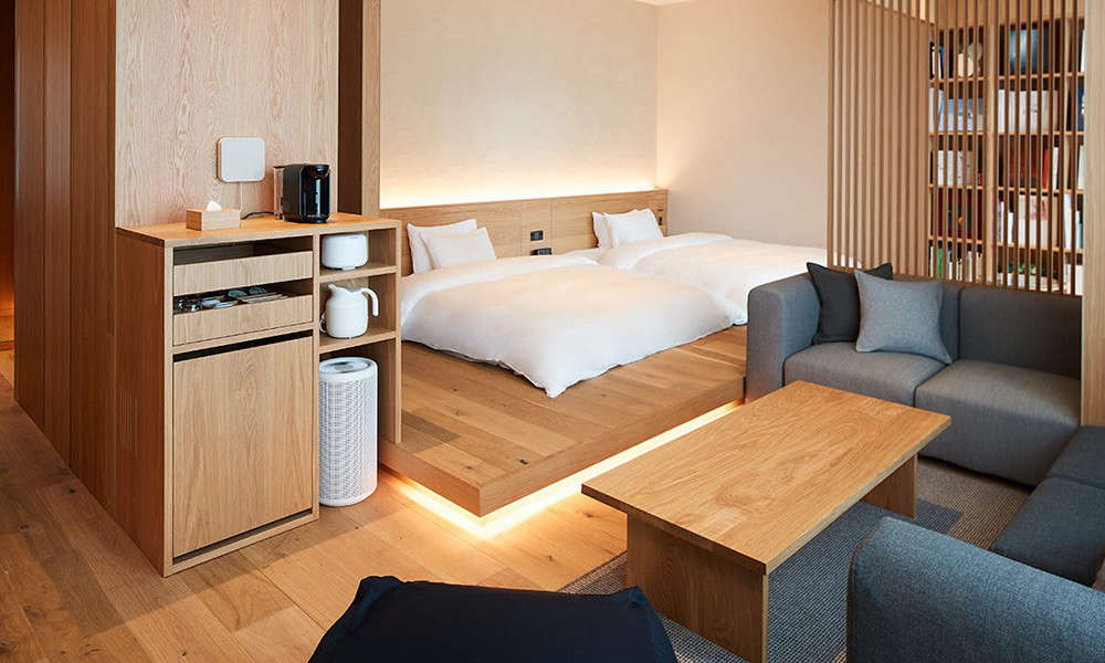 The quarters range in size from just big enough for a twin bed to this suite. As you would expect, Muji Hotelsshowcase some of the brand&#8