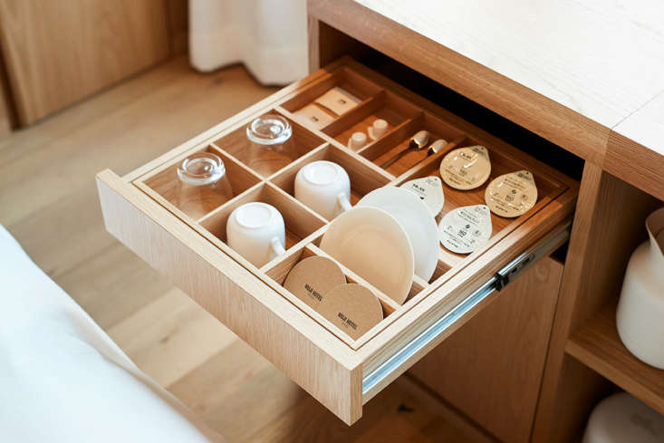 muji hotel tea drawer, ginza tokyo