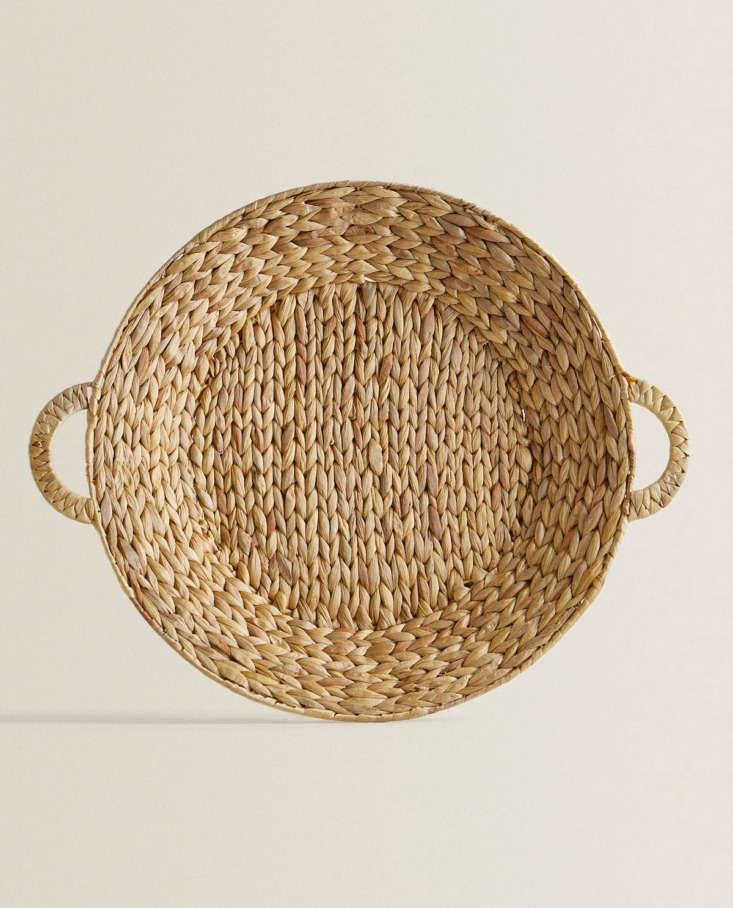 round basket with handles at zara home 20