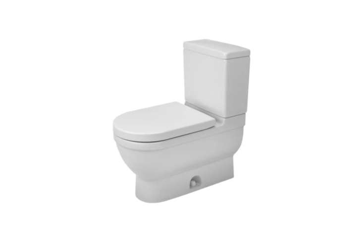 Designed by Philippe Starck, the ME 3 Two-Piece Toilet (