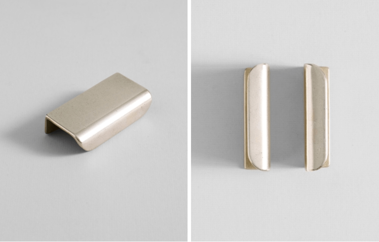 Another piece from designer Henry Wilson, the brass Cove Handle Mini is $90.