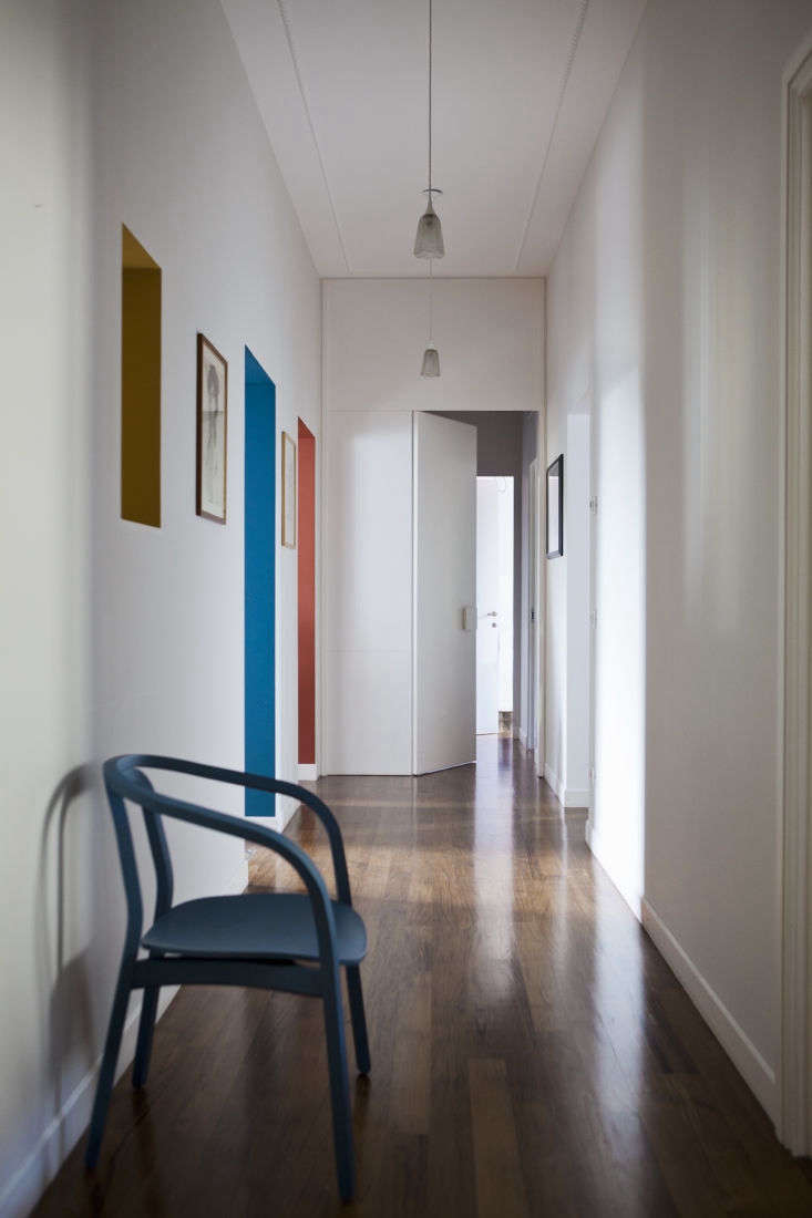 the architects used paint in an unusual way throughout, like painting the insid 14