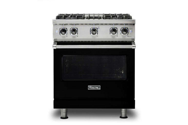 Viking Black 30-Inch Freestanding Gas Range