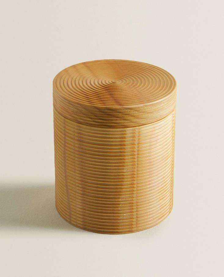 wooden box raised design round zara home
