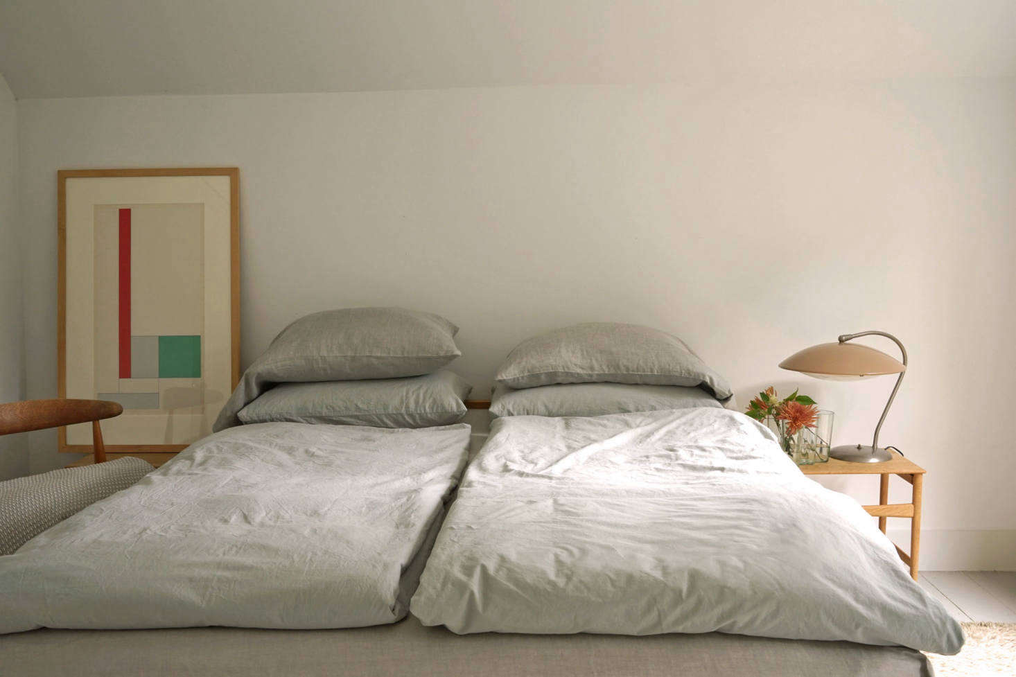 The bed is made in minutes. The organic cotton-percale Anton Duvet Covers and Anton Pillowcases are another of Area Home&#8