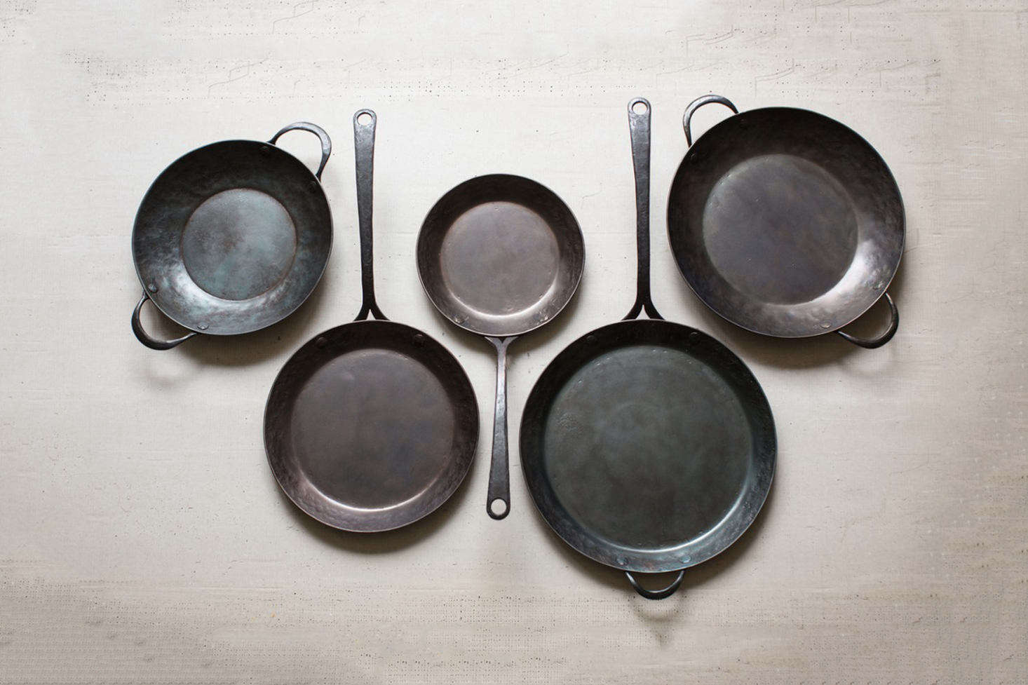 Hand-forged carbon steel cookware from Blanc Creatives in Virginia are made without chemicals, can withstand high temperature, and come pre-seasoned for a naturally non-stick surface. The key to cooking with carbon steel, as the brand reminds us, is to clean with water, dry quickly to avoid rust, and continue use oil repeatedly to maintain seasoning and avoid acidic breakdown from lemons and tomatoes. Available in different sizes of Roaster (starting at $0), Skillet (starting at $