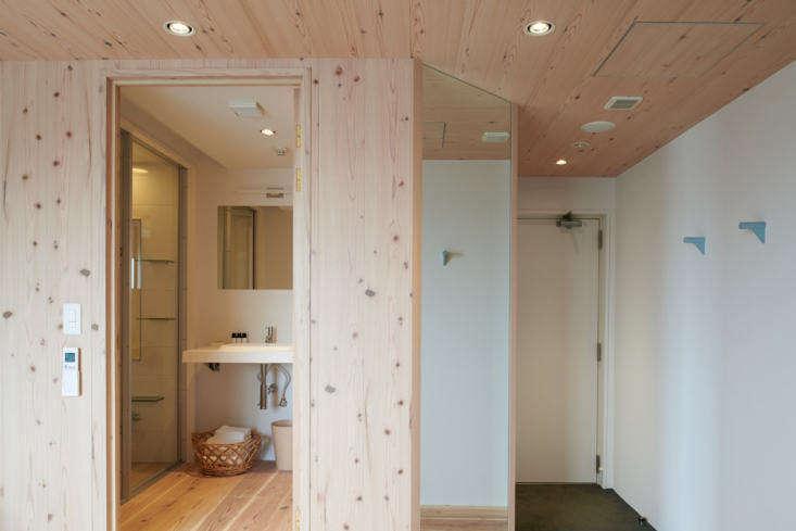 room 60\2, clad in cedar, is the work of designer kaname okajima. 12