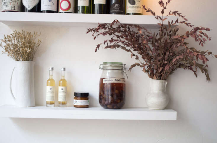Bottles of wine and accoutrements serve as decor, but are also for sale: Early June serves natural wines and small plates to share, and also operates as a shop.