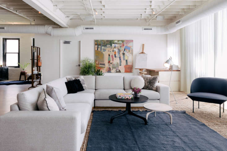 anna and david&#8\2\17;s layered, textural open living space, a few flights 9
