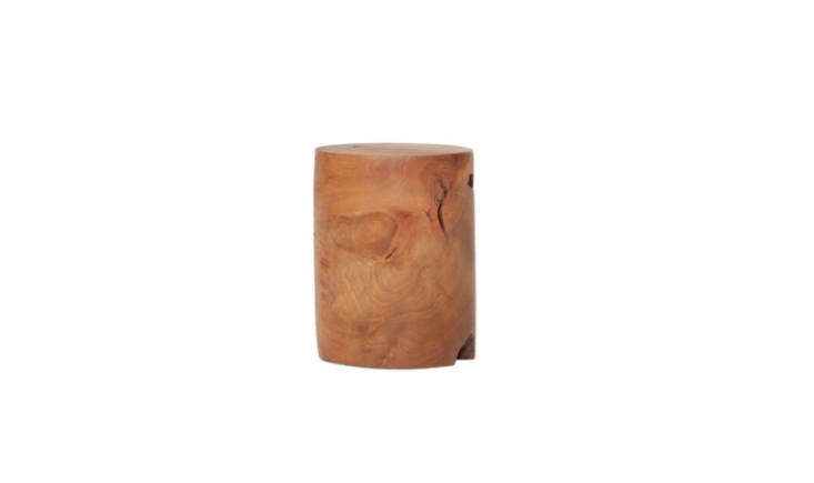 Steal This Look A SpaLike Sanctuary in LA Pamela&#8\2\17;s stump stool is by artist Alma Allen. For something similar, try EQ3&#8\2\17;s Teak Stool at All Modern; \$\206.