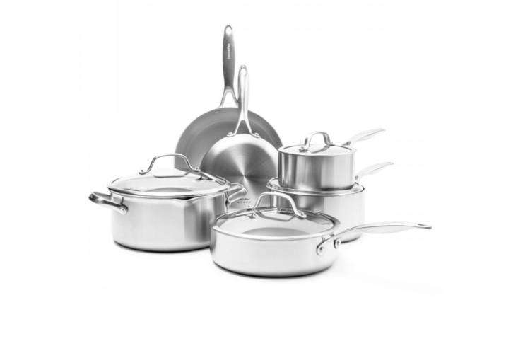 greenpan uses thermolon, a non stick coating made of silicon and oxygen applied 11