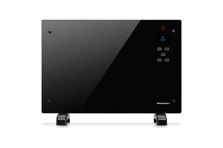 the homeleader electric panel heater has a black glass front and is designed wi 20