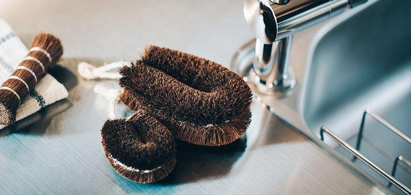 Above R: TheTawashi Scrub Brush (R) is $ from Housework.