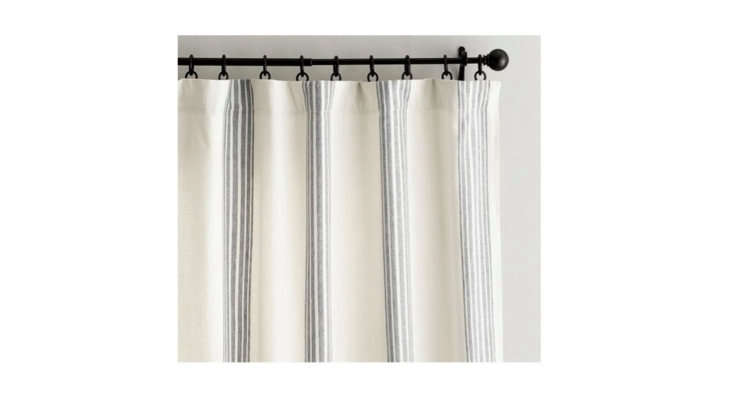 pottery barn&#8\2\17;s linen and cotton riviera stripe blackout curtain sta 30