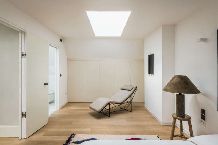 A skylight brings in more light.
