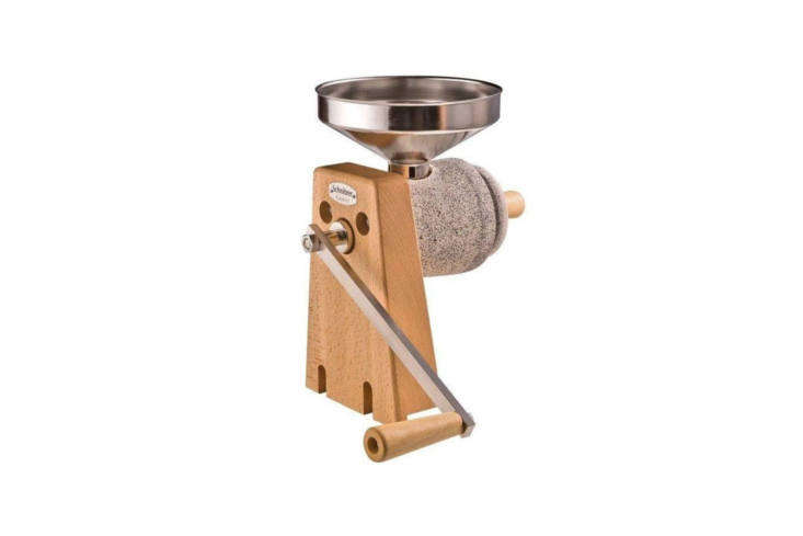 the schnitzer (me\1\295) large country stone grain mill is made of a beech wood 9