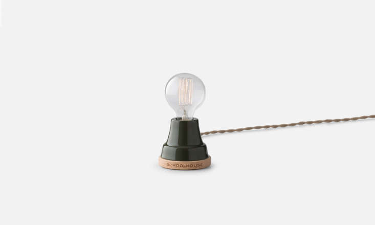 the ion lamp, workshop edition (\$\1\29) is a twist on a schoolhouse icon, with 15